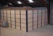 ściany oporowe i wentylacja podłogowa ziarna maszyna do sortowania i czyszcze