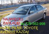 Kupię Toyotę Avensis I lub II, Carinę Yaris corolle Rav-4 1
