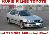 Kupię Toyotę Avensis Corollę Carinę Yaris Aygo