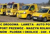 Pomoc Drogowa LAWETA Transport maszyn Ciechanów - Płońsk