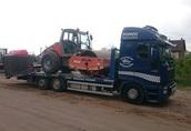 Transport traktorów opryskiwaczy przyczep Poznań 600-960-987