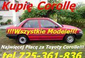 KKupię Toyotę Corollę E8 E9 E10 E11 E12