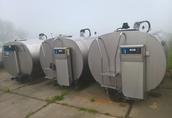 SCHŁADZALNIK zbiornik do mleka 6000 l Alfa Laval /montaż Chłodnia