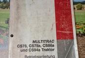 Instrukcja CASE IH MULTITRAC CS78, CS78a, CS86a, CS94a Betriebsanleitung