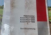 Instrukcja CASE IH Mähdrescher Axial-Flow 5088 6088 7088 Betriebsanleitung