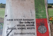 Instrukcja CASE STEYR Schlepper MX180 MX200 MX220 MX240 MX270