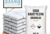 Soda Kaustyczna - Wodorotlenek Sodu 1000 kg - płatkowana lub ług