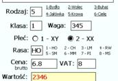 Obsługa skupu i sprzedaży bydła cieląt - oprogramowanie ANIMAX 7
