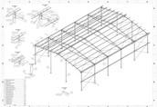 14x20 hala nowa konstrukcja stalowa wiata magazyn obora gara