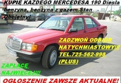 Kupię Mercedesa 190 W201 124 W124 tel.725 562 998