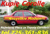 Kupię Każda Toyotę Corollę Carinę Avensis Yaris Hiace Rav-4 Picnic