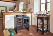 Kuchnie węglowe, na drewno, pellety, piecyki, kominki. 11